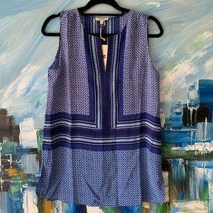 NWT Tyler Boe Sleeveless Blue Silk Tunic Sz 2, 8